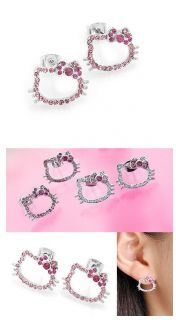 Hello Kitty Earrings Jewelry Accessory Pink Face