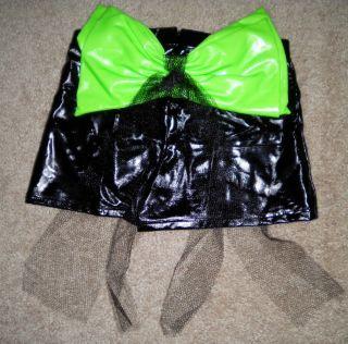 Marvea Black Neon Green Dance Hip Hop Booty Shorts Costume Child M
