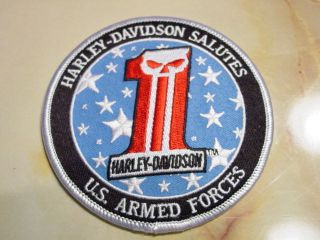 Harley Davidson Motorcycles Military Patch Marines Army Navy Air Force