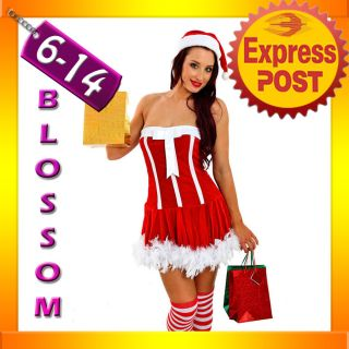 F25 Santa Claus Christmas Helper Fancy Dress Costume Xmas Party Outfit