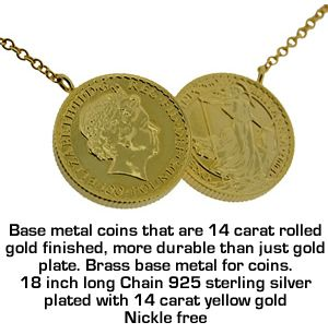 Look Celebrity Holly Willoughby Gold Finish Double Soverign Coin