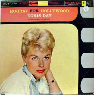 DORIS DAY hooray for hollywood volume 1 LP VG+ CS 8066 Vinyl 1959 6i 6