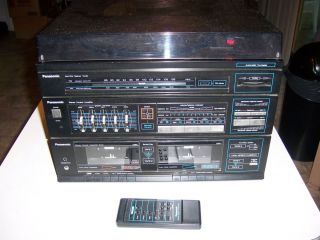 Stereo Am FM Tuner Cassette Recorder Amplifier Turntable Stereo System