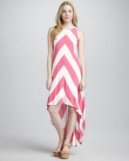 Ella Moss Chevron Stripe Jersey Dress