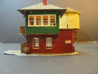 HO Scale Train Buildings Water Towers Depot Church House Shed