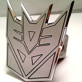 Tow Trailer Hitch Cover Transformers Decepticons Plug