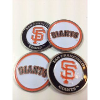 Four (4) San Francisco Giants Golf Ball Markers   2 sided