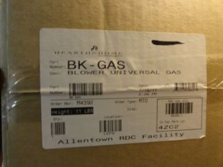 Hearth Home Wood Stove Black BK Gas Universal Gas Blower New in Box