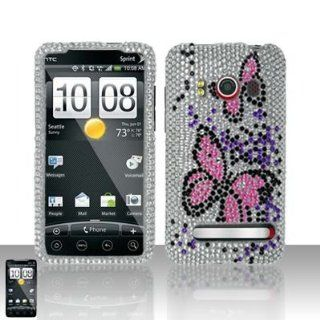 PINK BUTTERFLY Hard Plastic Bling Rhinestone Design Case