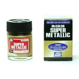 Mr Hobby Super Metallic Color SM02 Gold Paint 18ml New