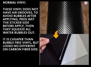 4D】Black Colour【Bubble Free Carbon Fibre Vinyl】Wrap 4 Car