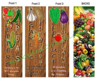 Garden Bookmarks Hobby Farm Gardener Nursery Plants