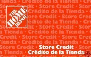 Home Depot Gift Card $158 00 Unused
