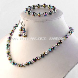 Glass Beads Necklace Bracelet Earrings Jewelry Gifts Fashion