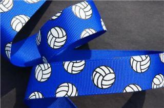 10yd Volleyball 7 8 Electric Blue Grosgrain Ribbon Craft