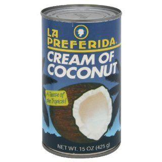La Preferida Drink Mix Cream of Coconut, 15 Ounce (Pack of 12)