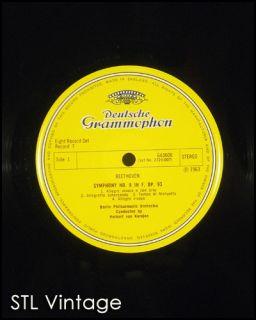 Herbert Von Karajan 9 Symphonien Beethoven 8 LP Box Book Deutsche