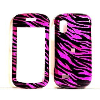 Hot Pink Zebra Snap on Hard Skin Shell Protector Cover