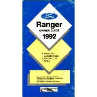 1992 Ford Ranger Owners Manual User Guide Reference Operator Book