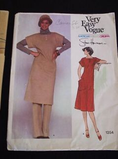 Vogue Designer Stan Herman Dress Tunic Pattern Uncut 8