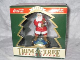 NIB 1994 Coca Cola Coke Trim A Tree Collection 1943 Santa Claus Figure