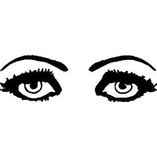 EYES WALL ART DECALS STICKERS GRAPHICS DESIGNS, 10 X 34