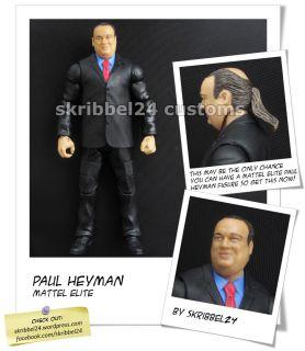 WWE custom Paul Heyman (Mattel Elite) legends Brock Lesnar figure by