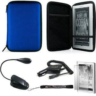 Blue Slim Stylish Hard Cover Nylon Protective Carrying