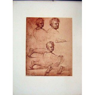 C1875 Etching Grand Masters Feet Legs Men Faces Body: Home