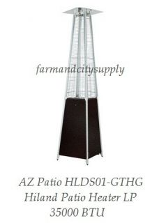 AZ Patio HLDS01 GTHG Hiland 86 Tall Glass Tube Propane Patio Heater