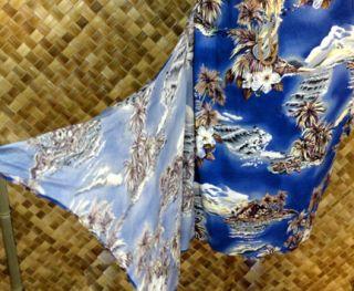 Hilo Hattie Womens Hawaiian Faux Wrap Sarong Dress Island Palm Print