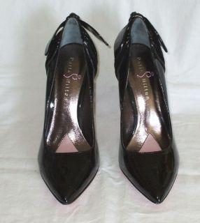 Paris Hilton Black Patent Leather Pumps Womens 8 5 Valetta 4 inch Heel