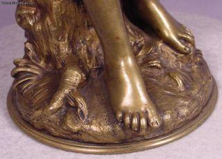 Antique Bronze Lady Sculpture Hippolyte Moreau