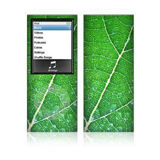 Apple iPod Nano 4G Decal Skin   Green Leaf Texture