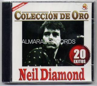 Neil Diamond Coleccion De Oro Mexican Edition CD 20 Exitos Hits