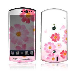 Pink Daisy Decorative Skin Decal Sticker for Sony Ericsson