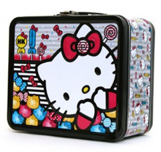Hello Kitty Candy Design Metal Tin Lunch Box Lunchbox