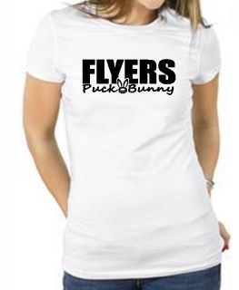 Flyers Puck Bunny Hockey Shirt Philadelphia Girl Lady Female Fan