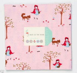 Aneela Hoey Walk in the Woods Little Red Riding Hood Layer Cake 42  10