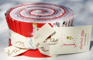 FABRIC Jelly Roll SHERBET PIPS Aneela Hoey MODA
