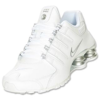 Womens Nike Shox NZ White/Metallic Silver