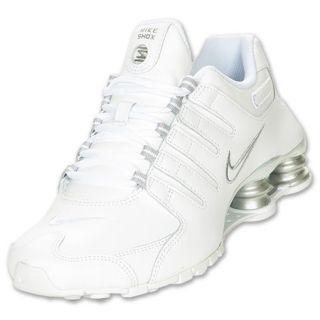 Womens Nike Shox NZ White/Metallic Silver