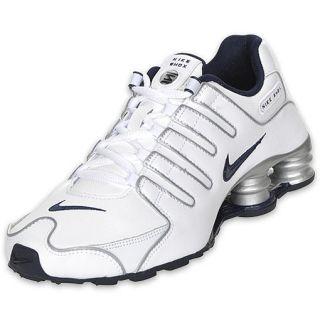 Boys Gradeschool Nike Shox NZ White/Silver/Navy