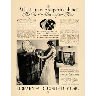 1936 Ad Victor Library Recorded Music RCA Camden Radio