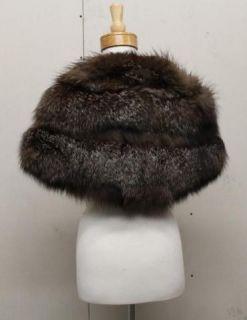 Raccoon Fur Cape Wrap Shawl by Hollander Furs Los Angeles CA
