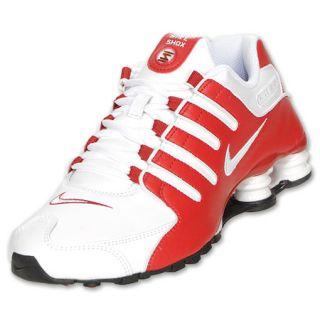 Womens Nike Shox NZ White/Varsity Red