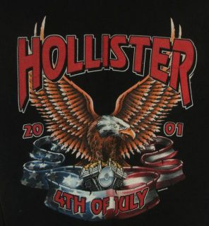 Hollister CA 2001 Motorcycle Rally 4th of July T Shirt Lady Luck Dice