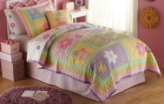 Sweet Helen Twin Quilt Sham Girls Flower Bedding Set New