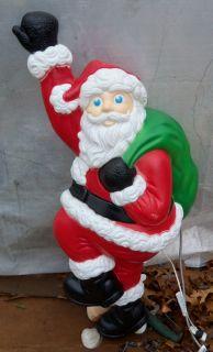 Christmas Light Up Blow Mold 38 Climbing Santa Claus in Box