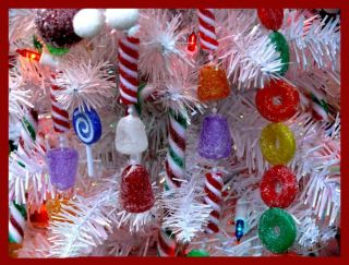 Magnet Christmas Candy Decorations White Tree
